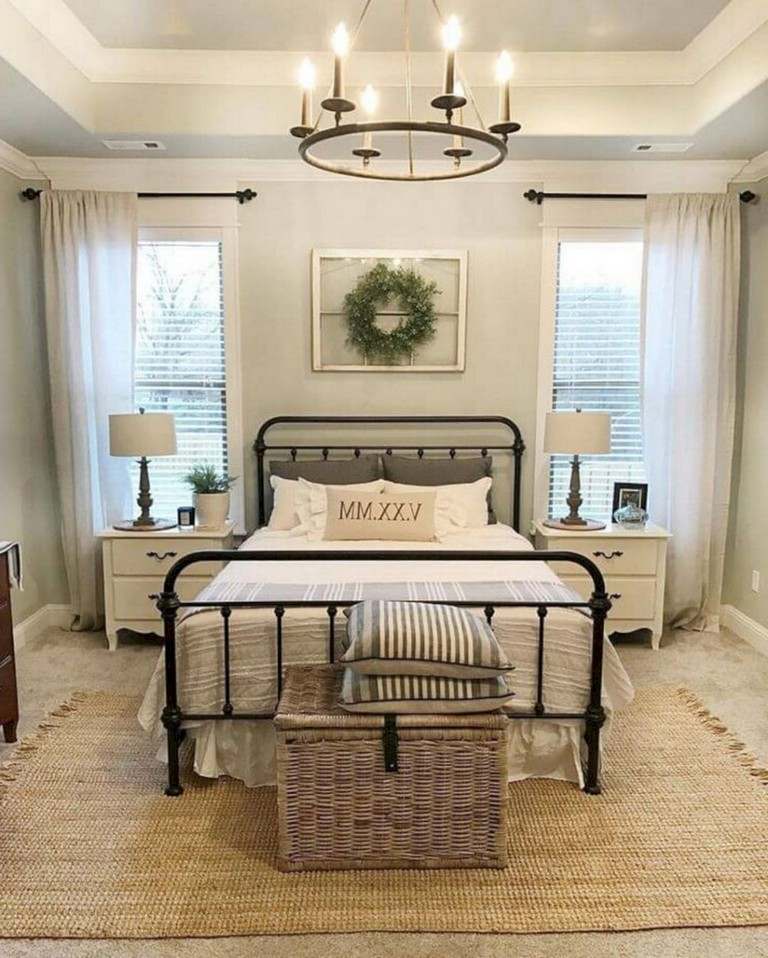 15+ Beautiful Rustic Farmhouse Style Bedroom Design Ideas