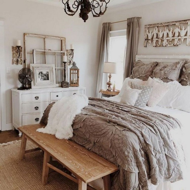 15 Rustic Bedroom Designs: 15+ Beautiful Rustic Farmhouse Style Bedroom Design Ideas