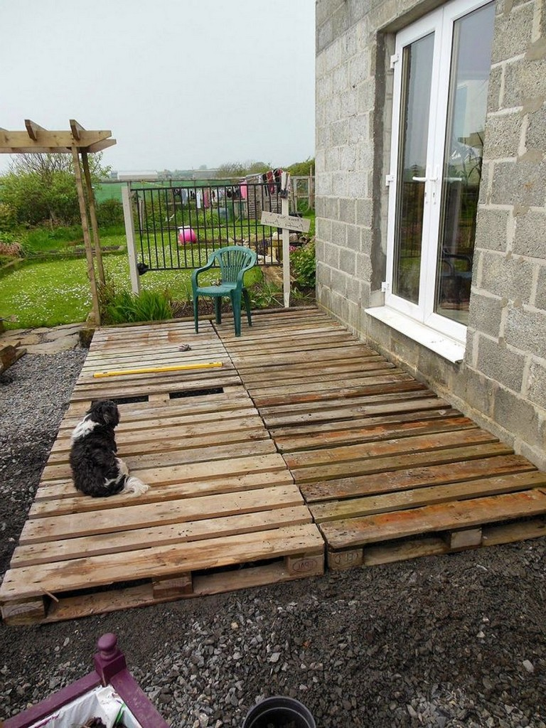 15+ Good DIY Wood Pallet Patio For Cheap and Amazing Home ... on Wood Patio Ideas id=62556