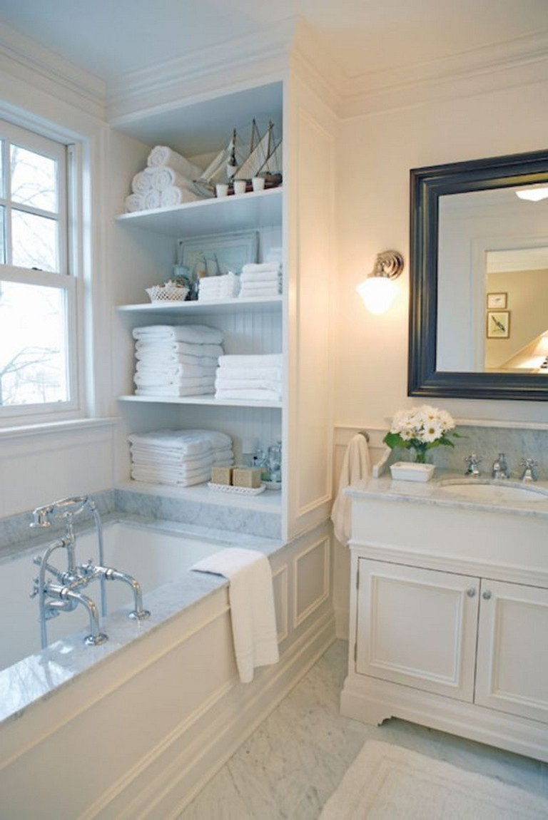 65 Beautiful Bathroom Storage Shelves Organization Ideas