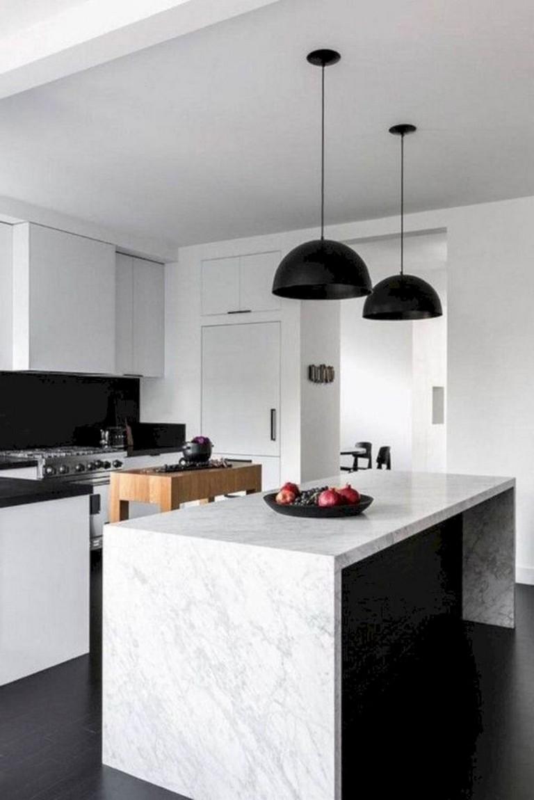 70 Good Staylish Black White Wood Kitchen Ideas