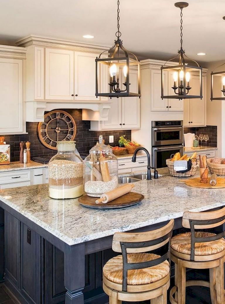 glamorous farmhouse kitchen designs | 65+ Beautiful Modern Farmhouse Kitchen Makeover Decor Ideas