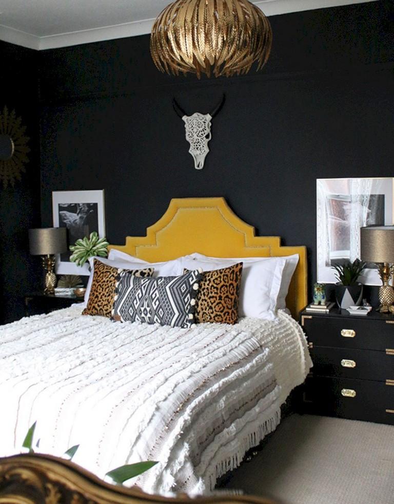 10+ astonishing boho glam bedroom design ideas