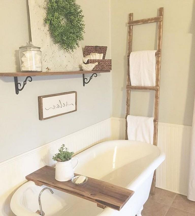 77 Easy And Modern Farmhouse Bathroom Decor Ideas